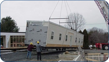 Modular School Building Installation