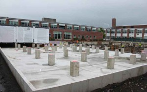 foundation for temporarily permanent building