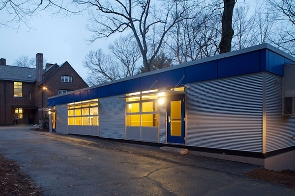 green modular classroom carroll school