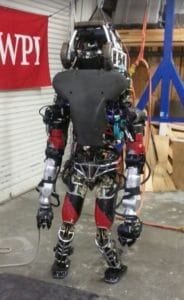 photo of WARNER the Atlas robot from SCUP college planning conference at WPI
