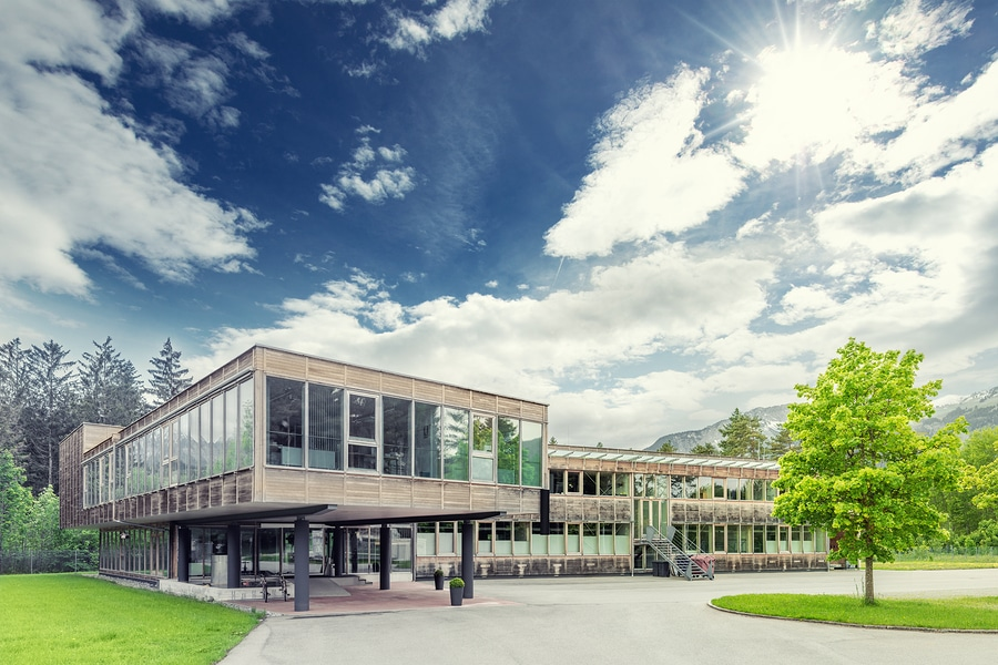 modern sustainable modular office building