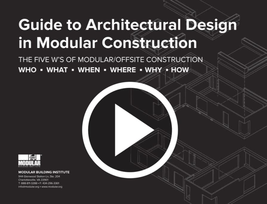Architectural Design in Modular Construction