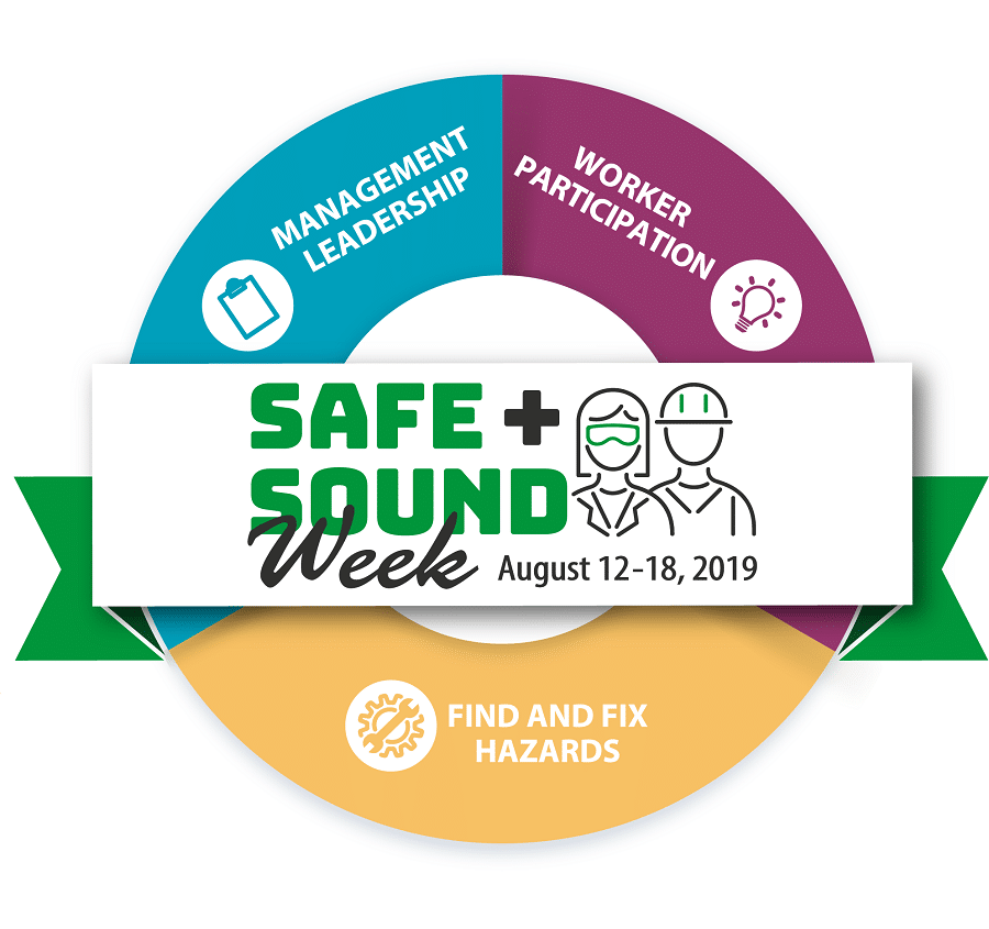 OSHA National Safe + Sound Week | August 12-18, 2019