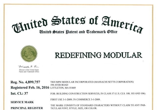 "Triumph Modular Receives Trademark Renewal for ""Redefining Modular"""