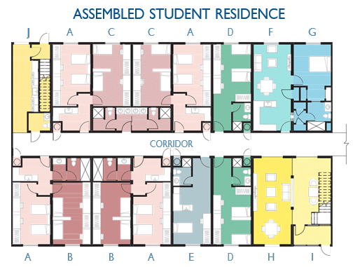 assembled student residence modules