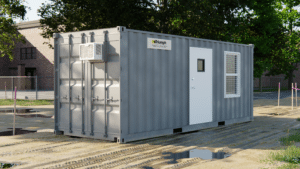 20' all office container on job site