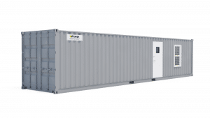40' office container storage combination