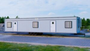 Pro-Space 12x60 Office Trailer with Security Screens